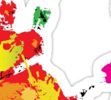 Color footprint and handprint Sticker