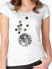 Phases of the Moon Women's Fitted Scoop T-Shirt