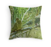 Mourning Doves at Sunrise Abstract Impressionism Throw Pillow