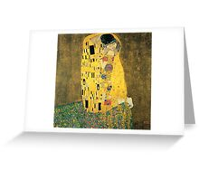The Kiss - Gustav Klimt Greeting Card
