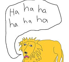 Laughing Lion by salgallery