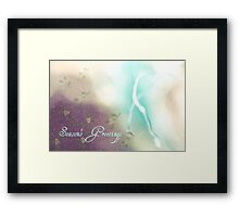 Greetings  - JUSTART ©  Framed Print