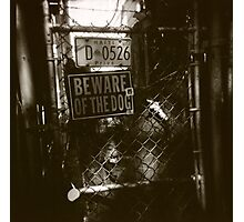 VooDoo, Haiti, Beware of Dog, New Orleans Fence Photographic Print