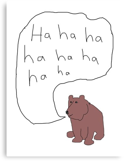 Laughing Bear by salgallery