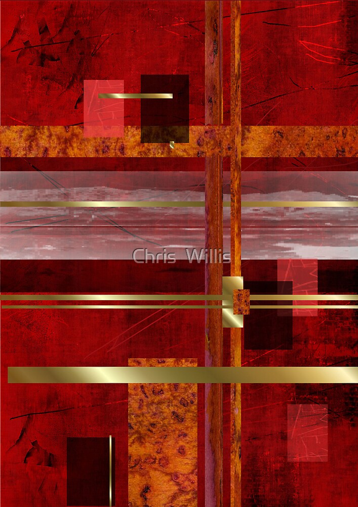 Red & Gold Delight by Chris  Willis