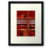 Red & Gold Delight Framed Print