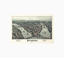 Pittsburgh in 1902, a lithographic print by Thaddeus Mortimer Fowler Unisex T-Shirt