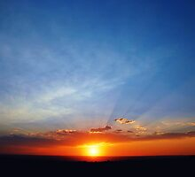 Sunset rays by Tom Harrington
