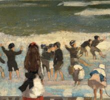 Beach Scene - Winslow Homer Sticker