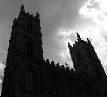 Under the shadow of church by PhotographYves