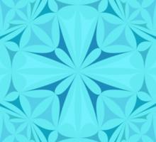 Light blue kaleidoscopic triangles Sticker