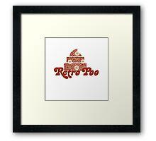 Retro Poo Framed Print