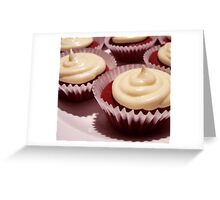 Red Velvet Cupcakes with Cream Cheese Frosting Greeting Card