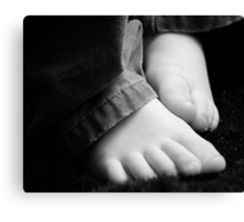 Thank You, Lord, For Little Feet Canvas Print