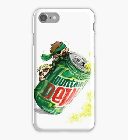 Snake & Miller on a... mountain dew. iPhone Case/Skin
