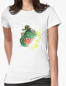 Snake & Miller on a... mountain dew. Womens Fitted T-Shirt