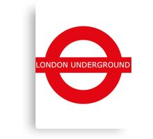 london underground sign Canvas Print