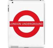 london underground sign iPad Case/Skin