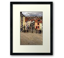 View from the Whitby Steps Framed Print