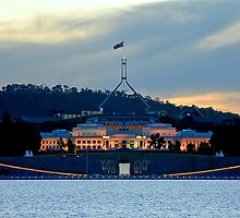 Sunset Over Parliament  by Steven  Agius