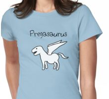 Pregasaurus (Pregnant Pegasaurus) Womens Fitted T-Shirt