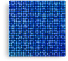 Blue pixel mosaic Canvas Print