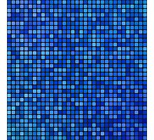 Blue pixel mosaic Photographic Print