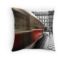 City Tram in Prague  Throw Pillow