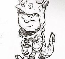 Dinosaur Child  by erogersss