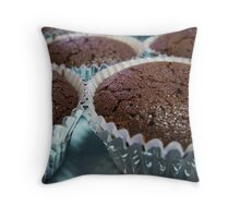 Chocolate Mud Cupcake, Un-frosted Throw Pillow
