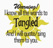 All the Words to Tangled (Light) T-Shirt