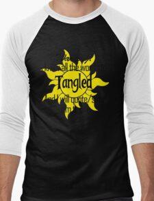 All the Words to Tangled (Light) Men's Baseball ¾ T-Shirt