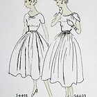 Vogue Dress Patterns 1953 by Mike Paget