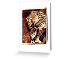 Cosy with a Cat Greeting Card