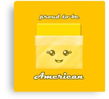 Proud to Be American Kawaii Cheese Slice Canvas Print