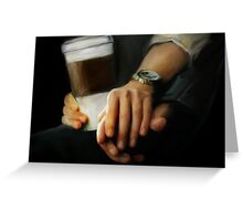 coffee and comfort Greeting Card