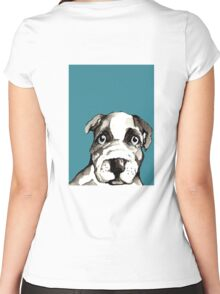 Dog 5 Women's Fitted Scoop T-Shirt