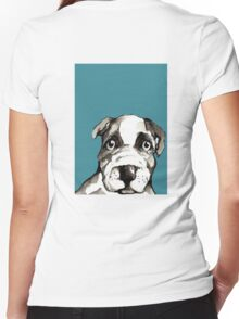 Dog 5 Women's Fitted V-Neck T-Shirt