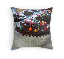 Chocolate Mud Cupcakes Throw Pillow