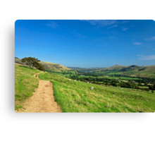 The Vale of Edale from the Pennine Way Canvas Print