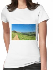 The Vale of Edale from the Pennine Way Womens Fitted T-Shirt