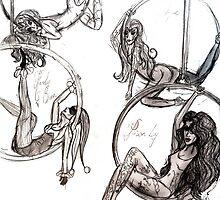 Comicwomen circus enchantress mystique poison ivy & Harley Quinn by Buxbunny