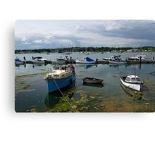 Bembridge Harbour Scene Canvas Print
