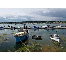 Bembridge Harbour Scene Photographic Print