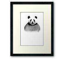 F*ck the world, I'm a Panda. Framed Print