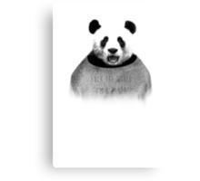F*ck the world, I'm a Panda. Canvas Print