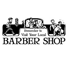 Old Fashioned Gents Barber Shop Sign Photographic Print
