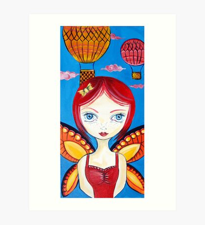 Hot Air Balloon Fairy Art Print