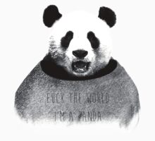F*ck the world, I'm a Panda. One Piece - Short Sleeve