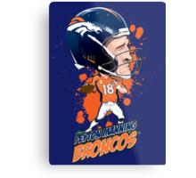 Peyton Manning Broncos Metal Print